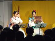 むすびひめ左:田島和枝さん(笙)、右:中村香奈子さん(排簫)