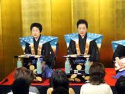 写真右:竹本綾之助さん、写真左:竹本土佐子さん