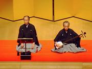 清元「お祭り」〜浄瑠璃:清元美寿太夫(写真左)、三味線:清元美治郎(第3回受賞/写真右)