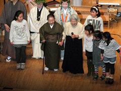 終幕。花柳寿南海師、小島美子氏を囲んで